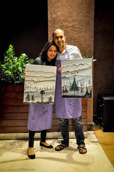 And us with our masterpieces with loads of happy accidents!